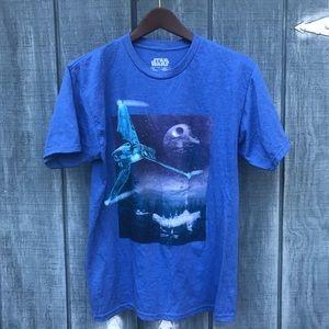 Star Wars Death Star Short Sleeve Tshirt Blue M